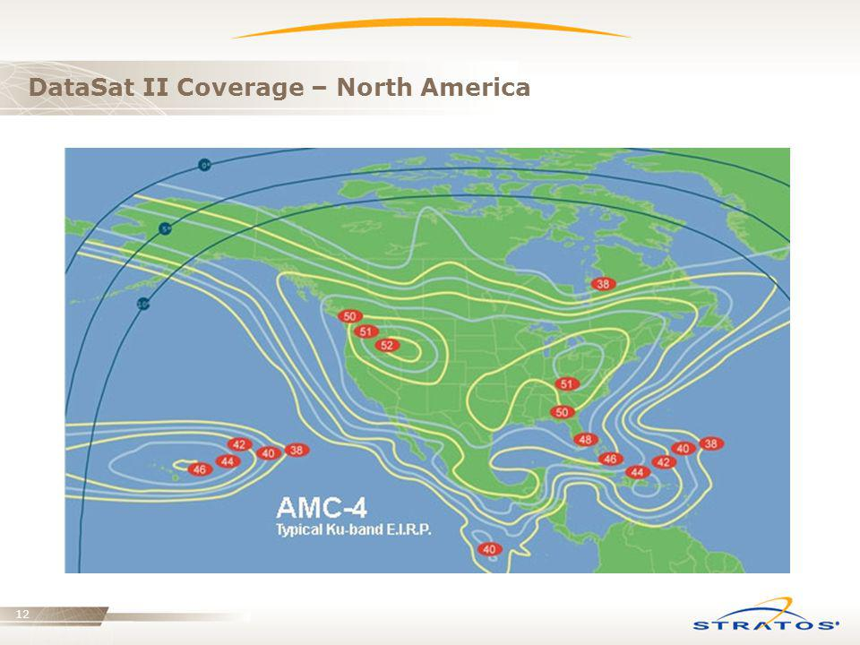 DataSat II Coverage – North America