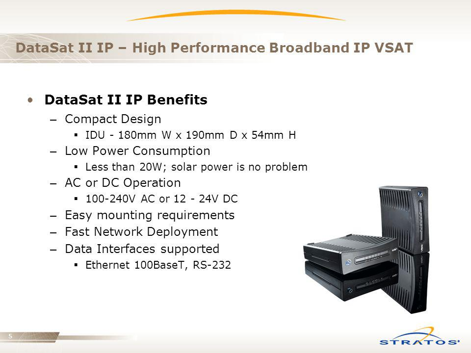 DataSat II IP – High Performance Broadband IP VSAT
