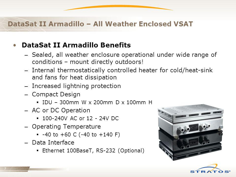 DataSat II Armadillo – All Weather Enclosed VSAT