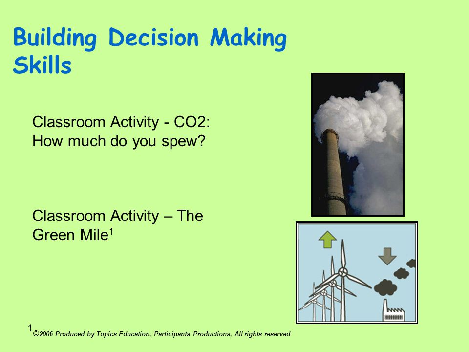 Building Decision Making Skills