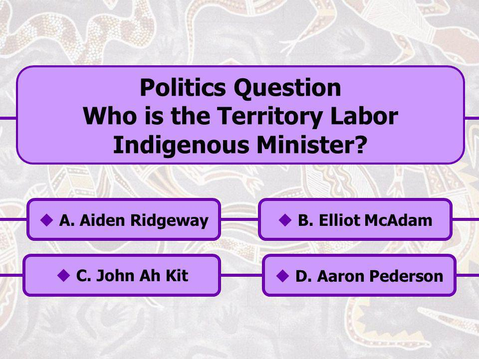 Who is the Territory Labor Indigenous Minister
