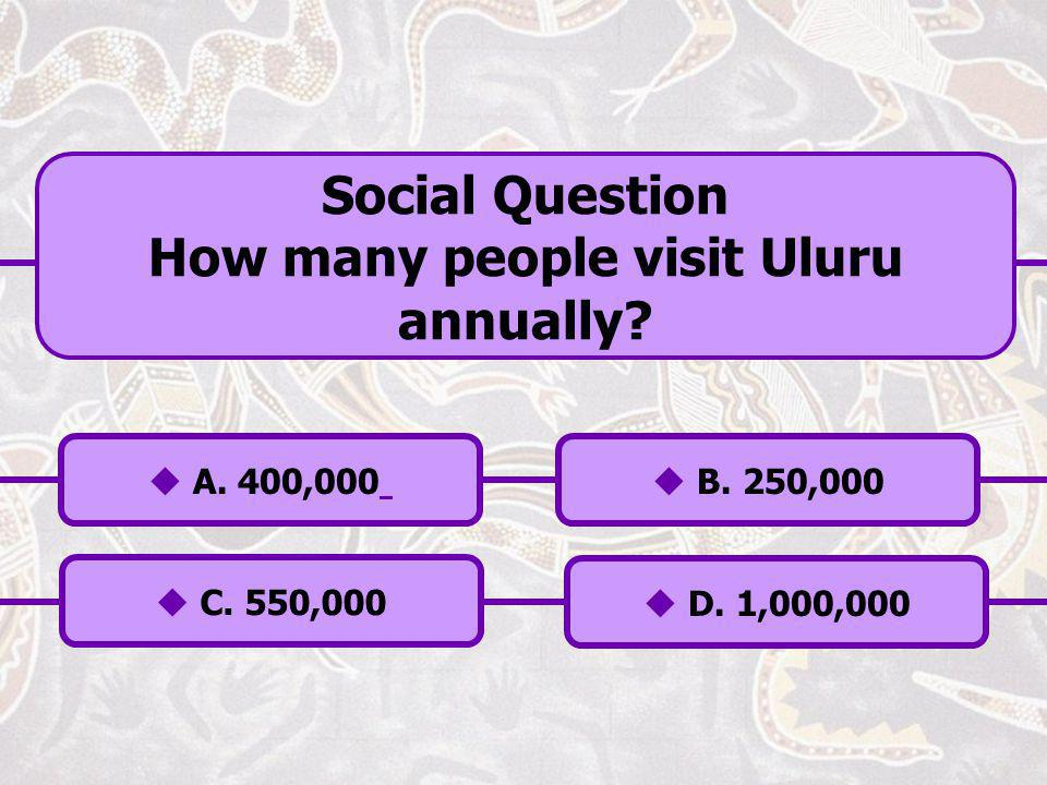 How many people visit Uluru annually