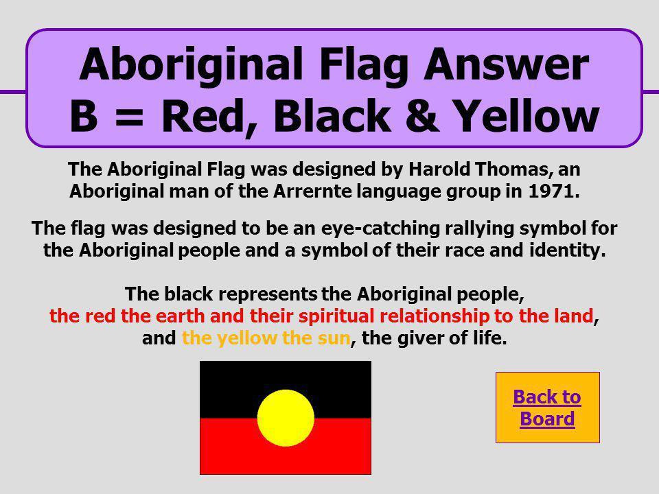 Aboriginal Flag Answer