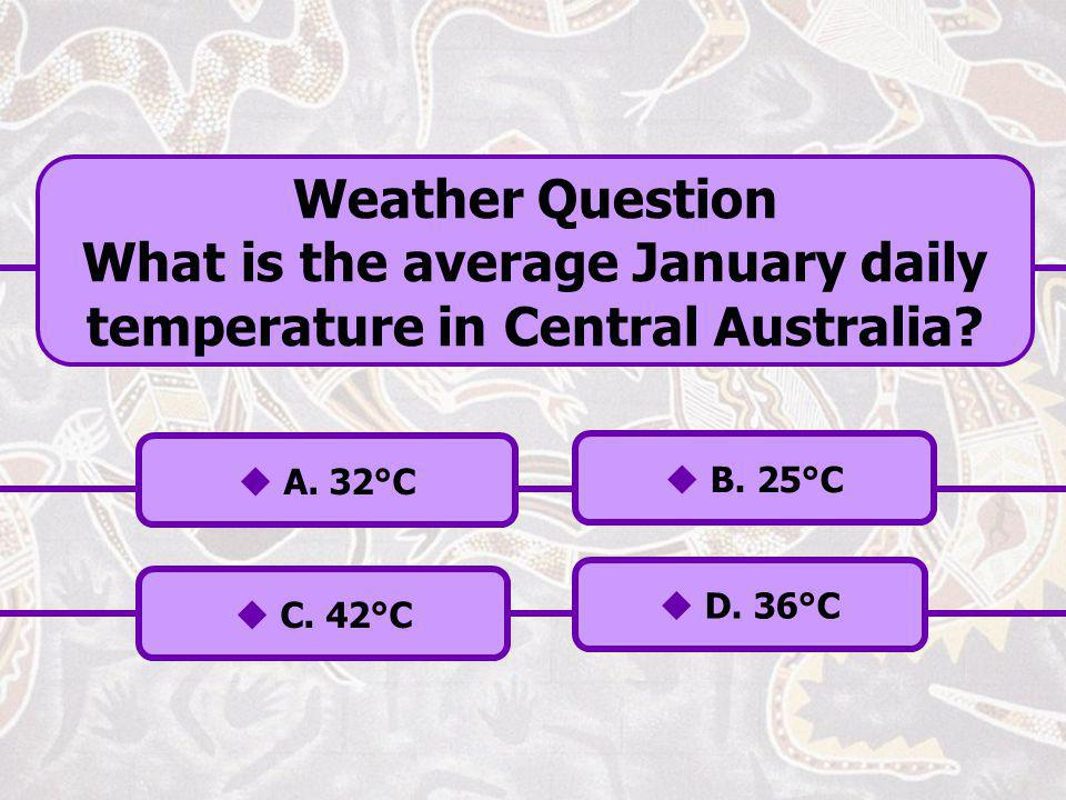 What is the average January daily temperature in Central Australia