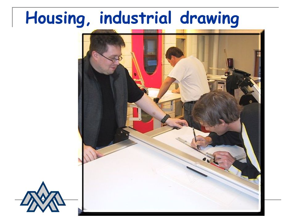 Housing, industrial drawing