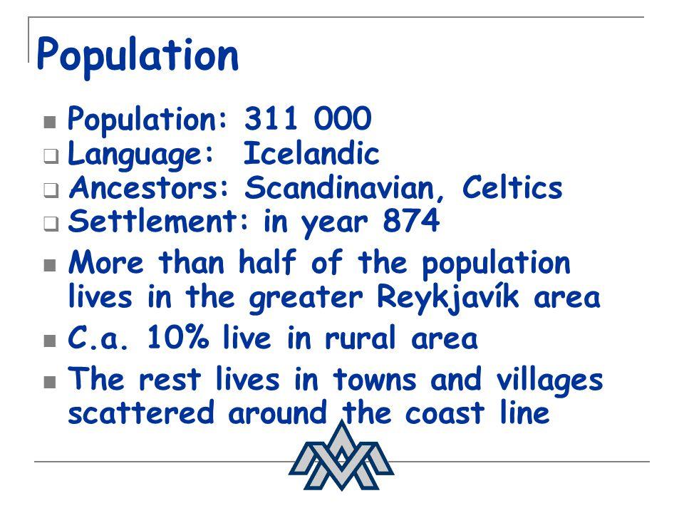 Population Population: 311 000 Language: Icelandic