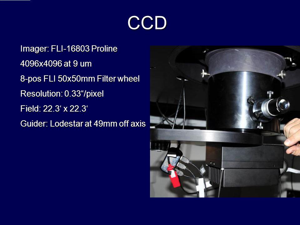 CCD Imager: FLI-16803 Proline 4096x4096 at 9 um