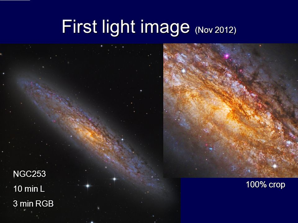 First light image (Nov 2012)