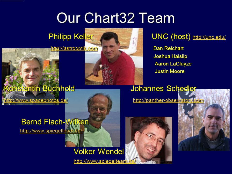 Our Chart32 Team Philipp Keller UNC (host) http://unc.edu/