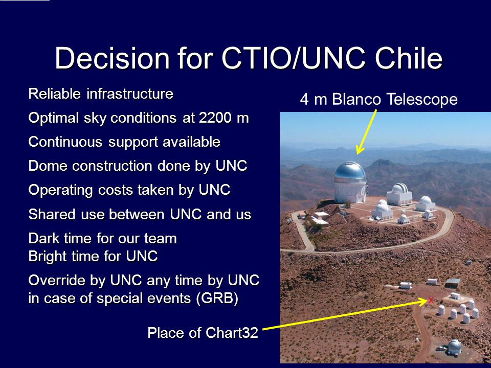 Decision for CTIO/UNC Chile