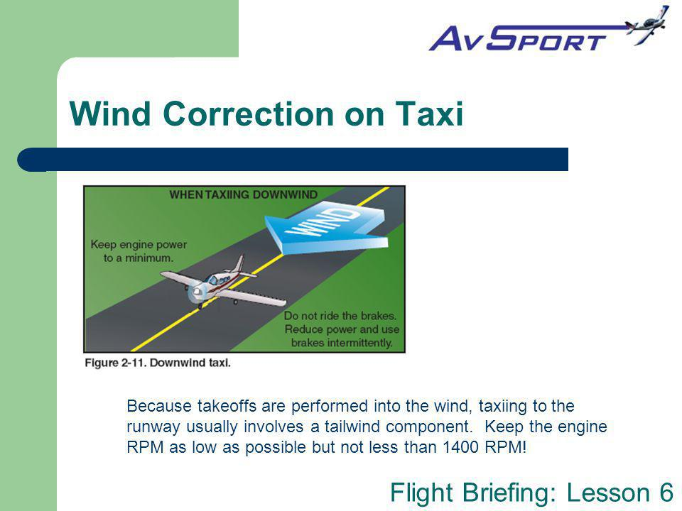 Wind Correction on Taxi