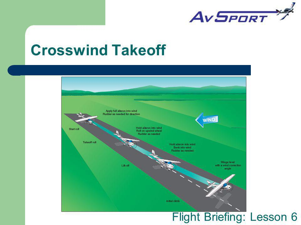 Crosswind Takeoff