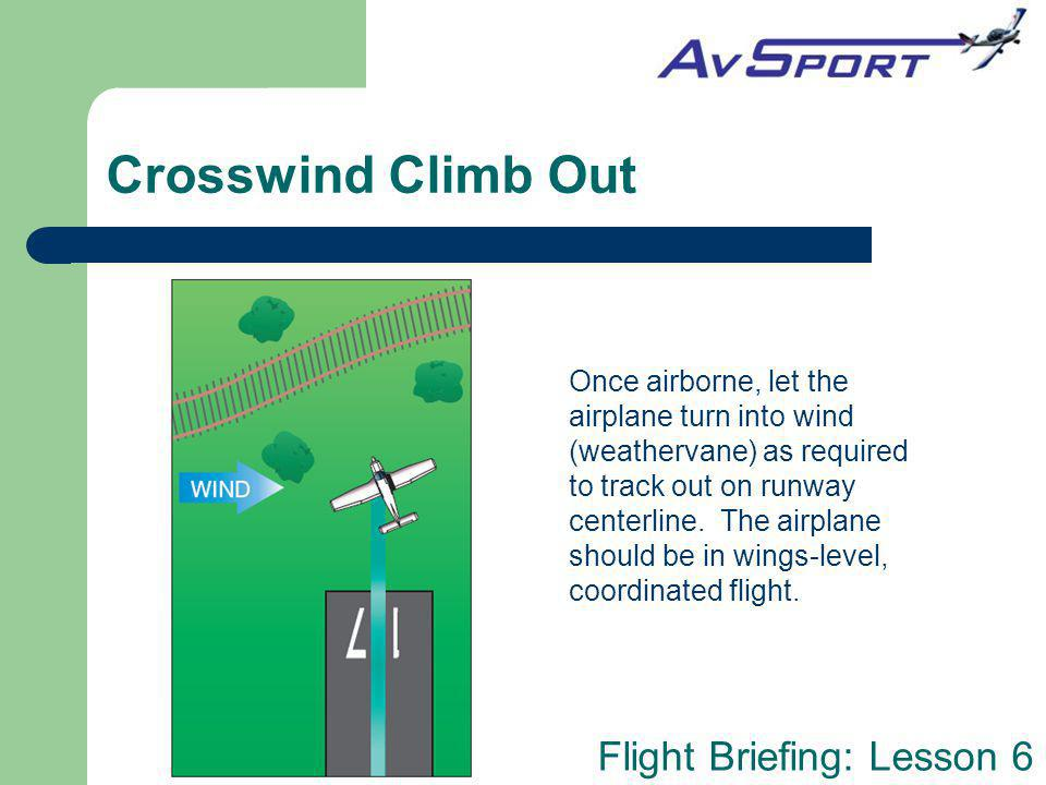 Crosswind Climb Out
