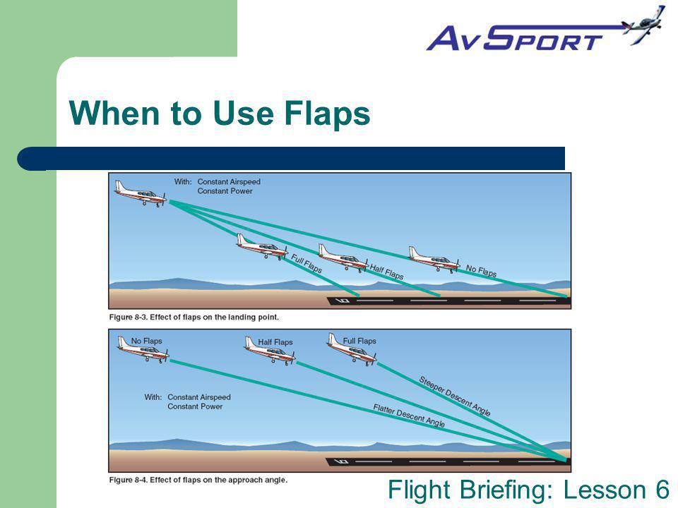 When to Use Flaps