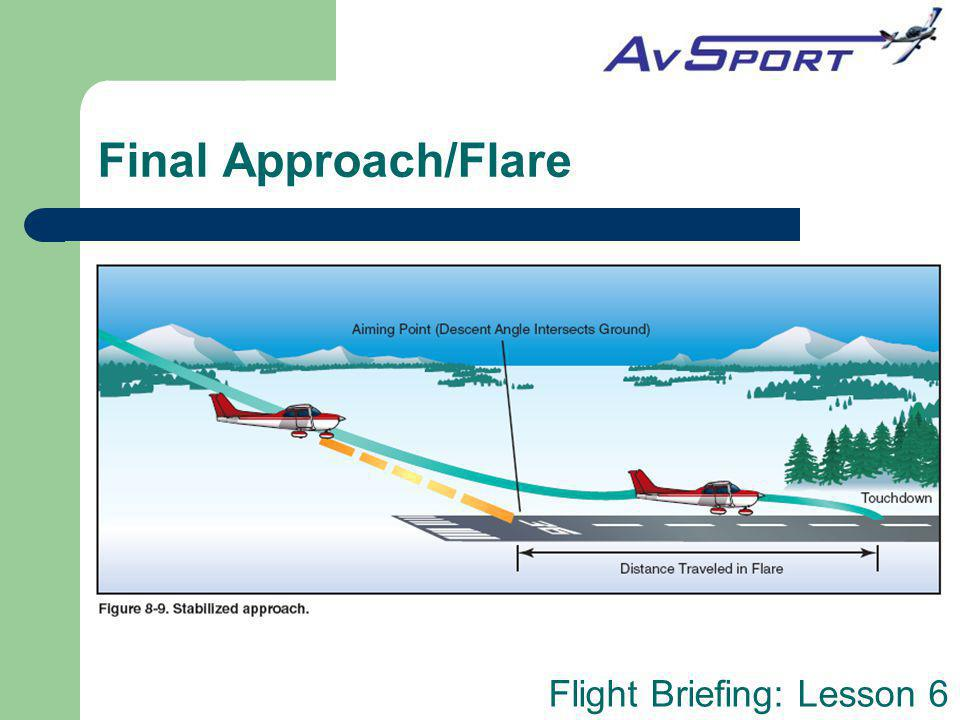 Final Approach/Flare