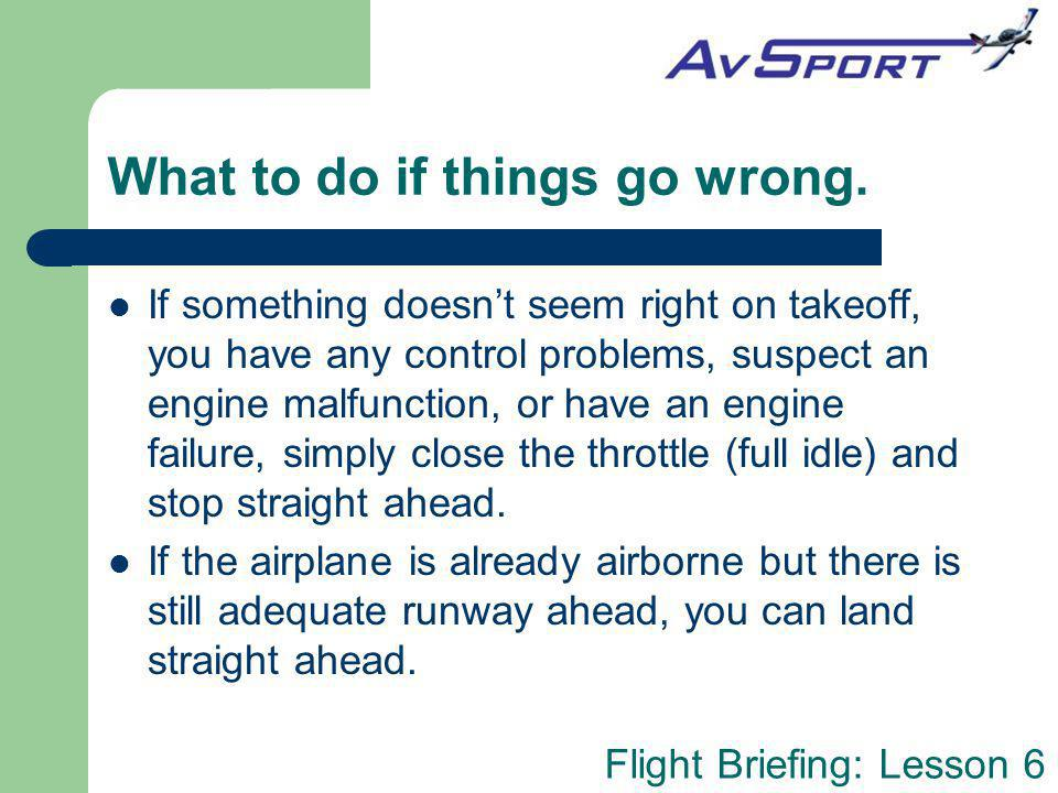 What to do if things go wrong.