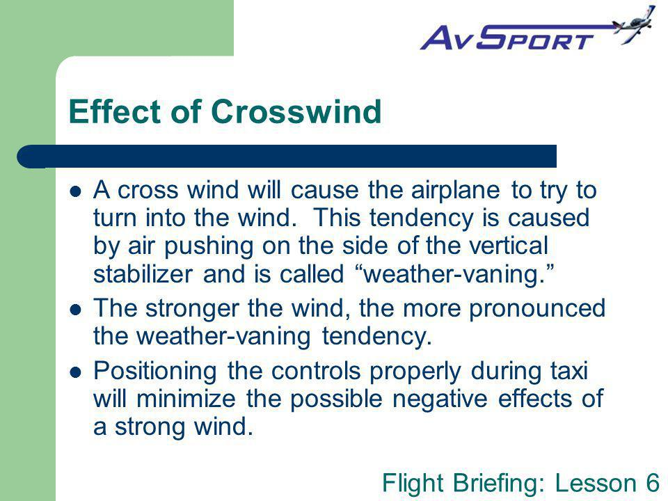 Effect of Crosswind