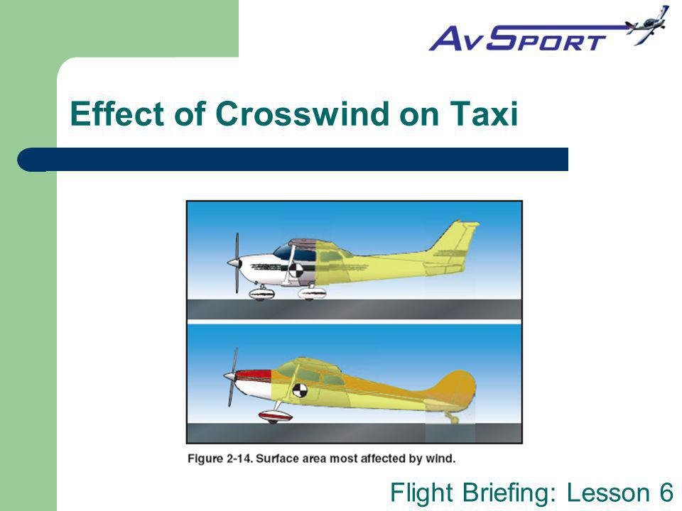 Effect of Crosswind on Taxi