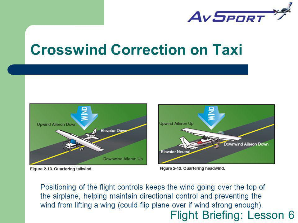 Crosswind Correction on Taxi