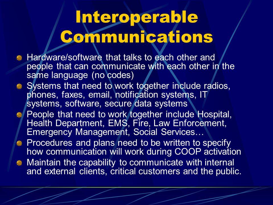 Interoperable Communications