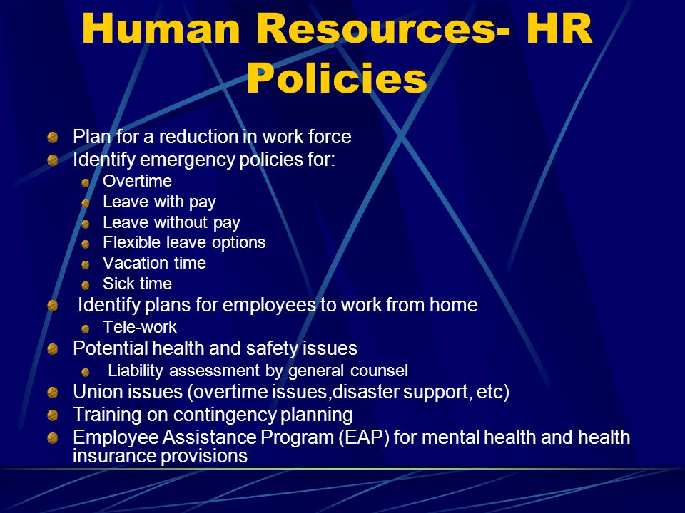 Human Resources- HR Policies