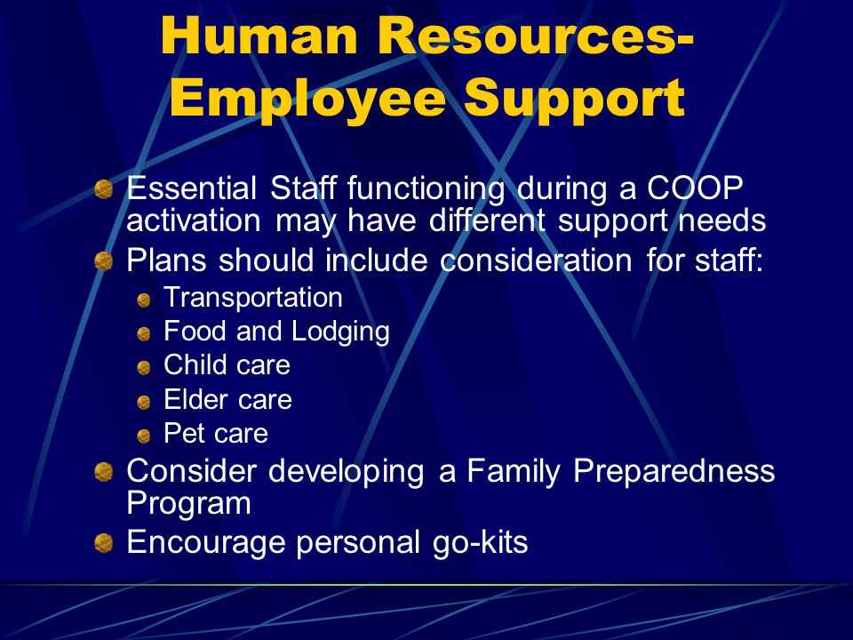 Human Resources-Employee Support