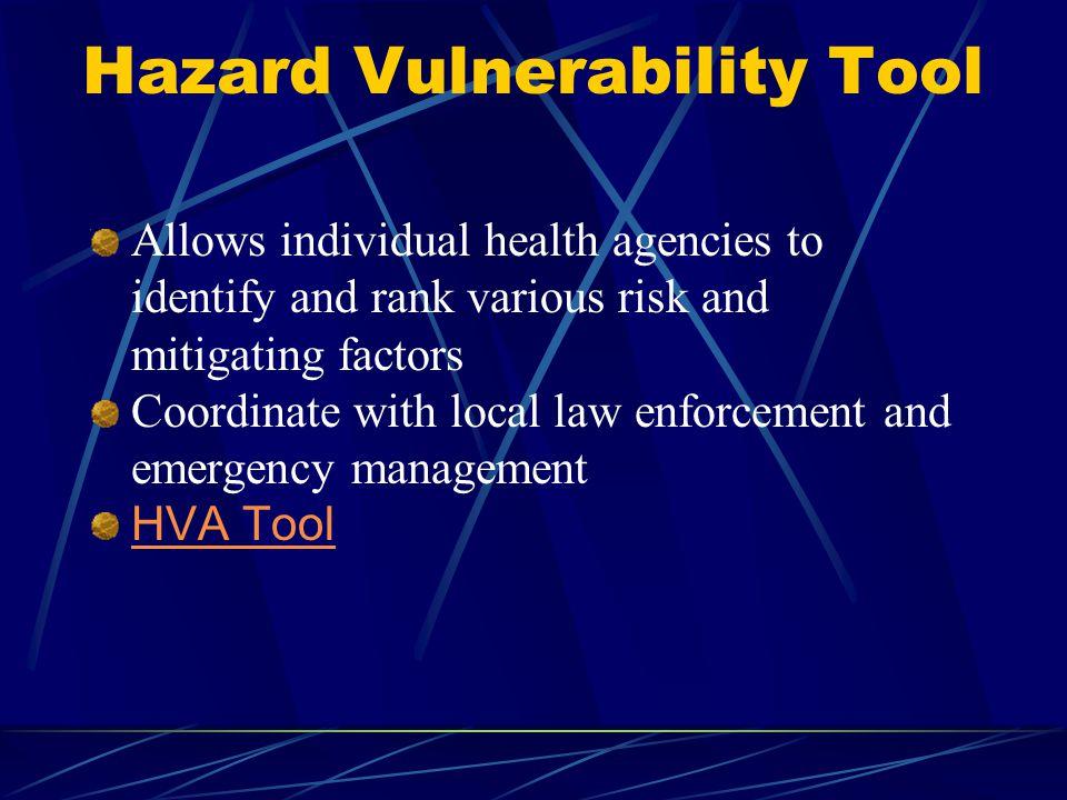 Hazard Vulnerability Tool