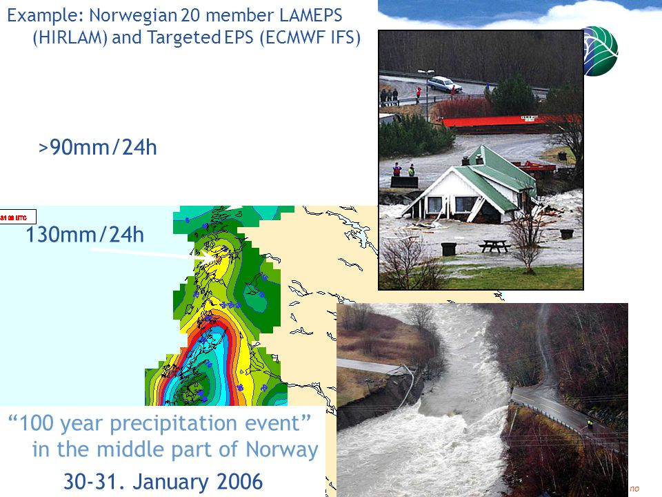 100 year precipitation event in the middle part of Norway