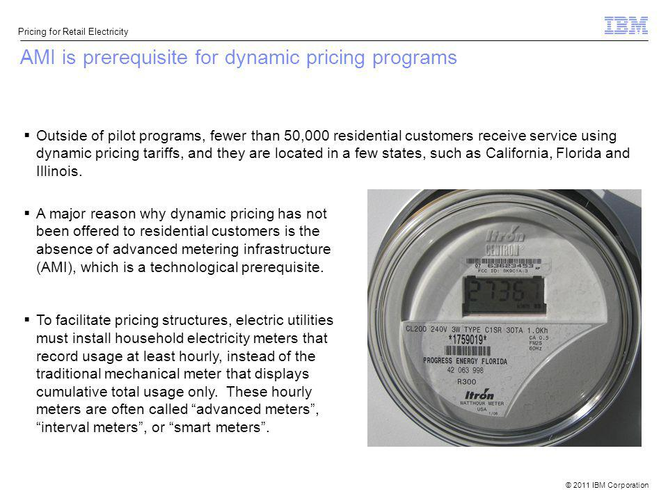 AMI is prerequisite for dynamic pricing programs