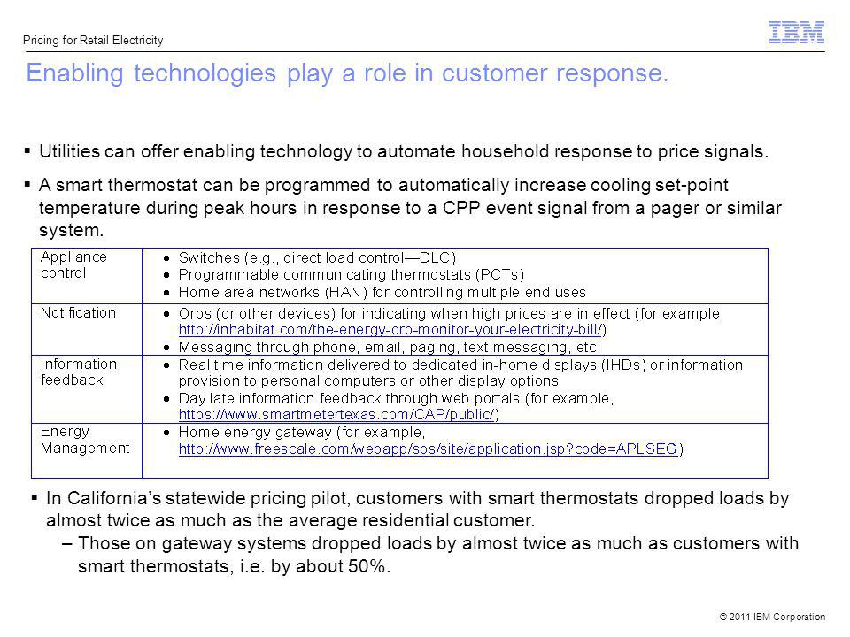 Enabling technologies play a role in customer response.