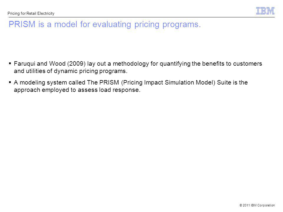PRISM is a model for evaluating pricing programs.