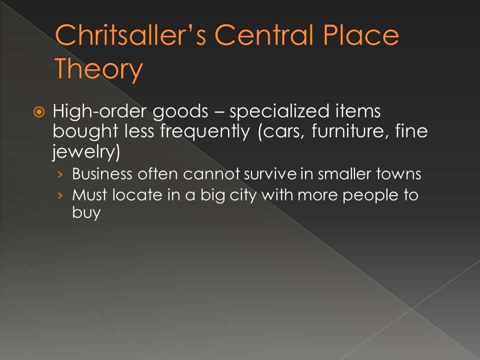 Chritsaller's Central Place Theory