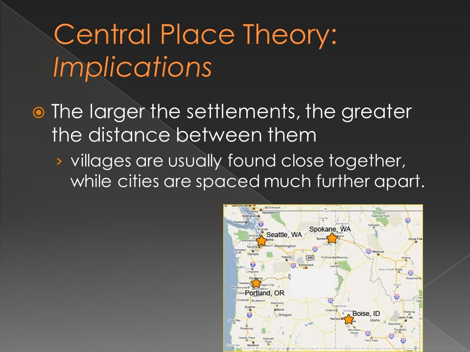 Central Place Theory: Implications