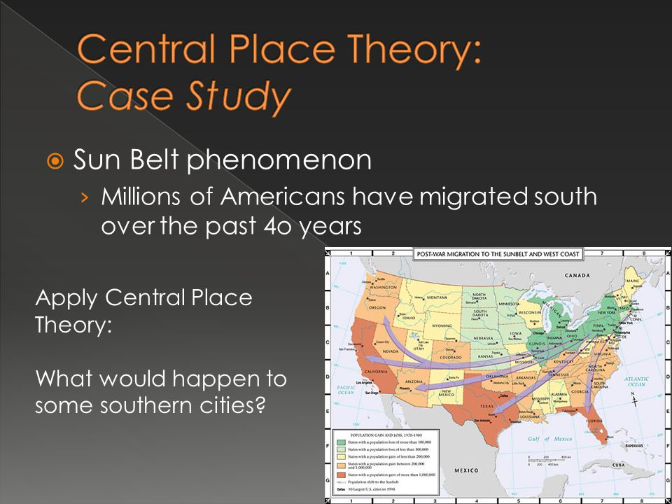 Central Place Theory: Case Study