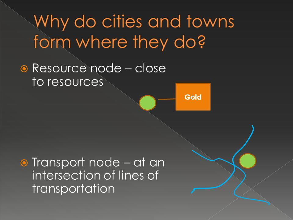 Why do cities and towns form where they do