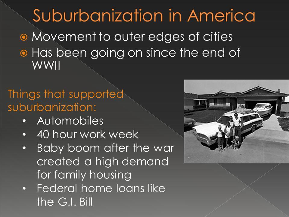 Suburbanization in America