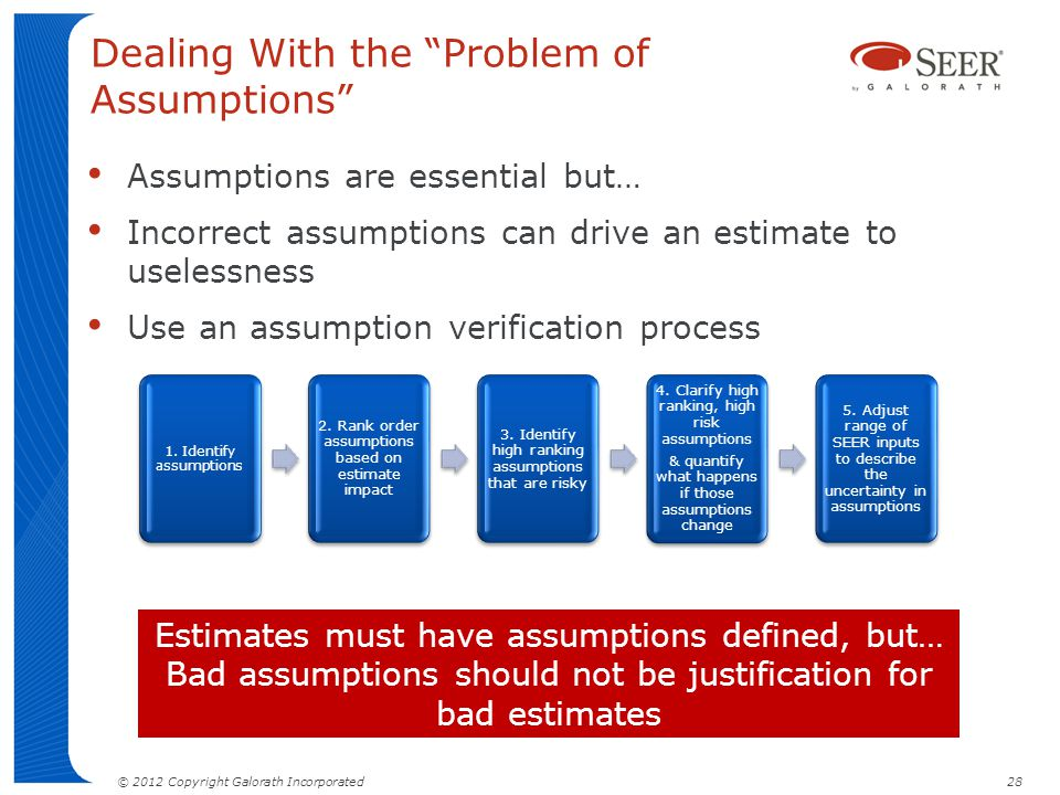 Dealing With the Problem of Assumptions