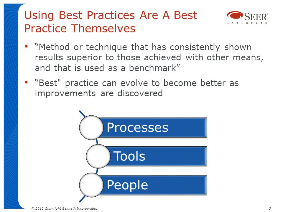 Using Best Practices Are A Best Practice Themselves