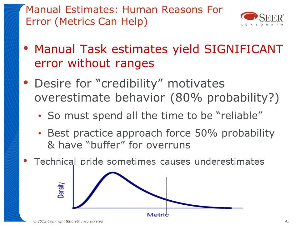Manual Estimates: Human Reasons For Error (Metrics Can Help)