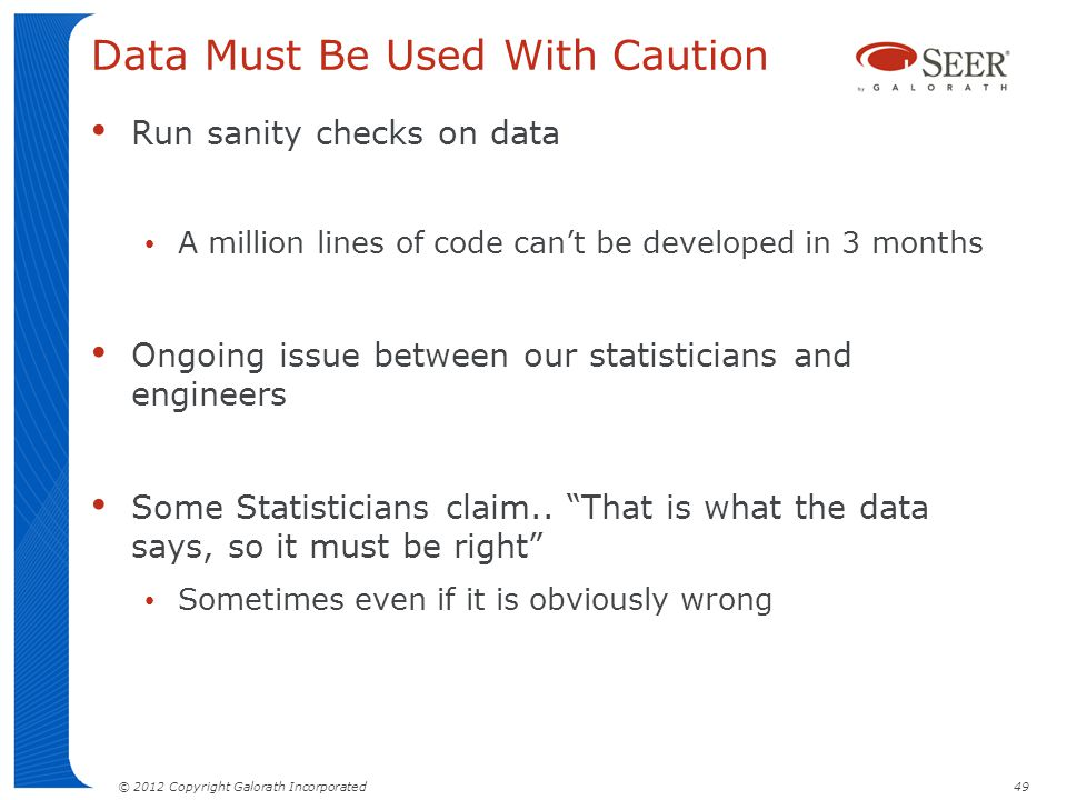 Data Must Be Used With Caution