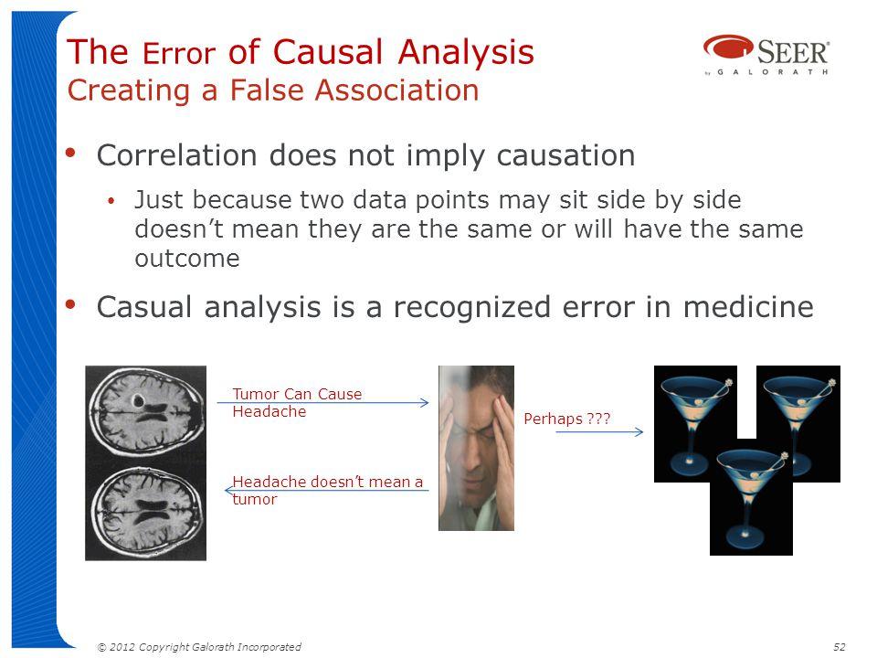 The Error of Causal Analysis Creating a False Association
