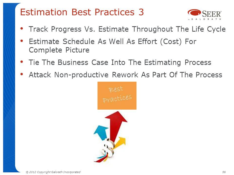 Estimation Best Practices 3