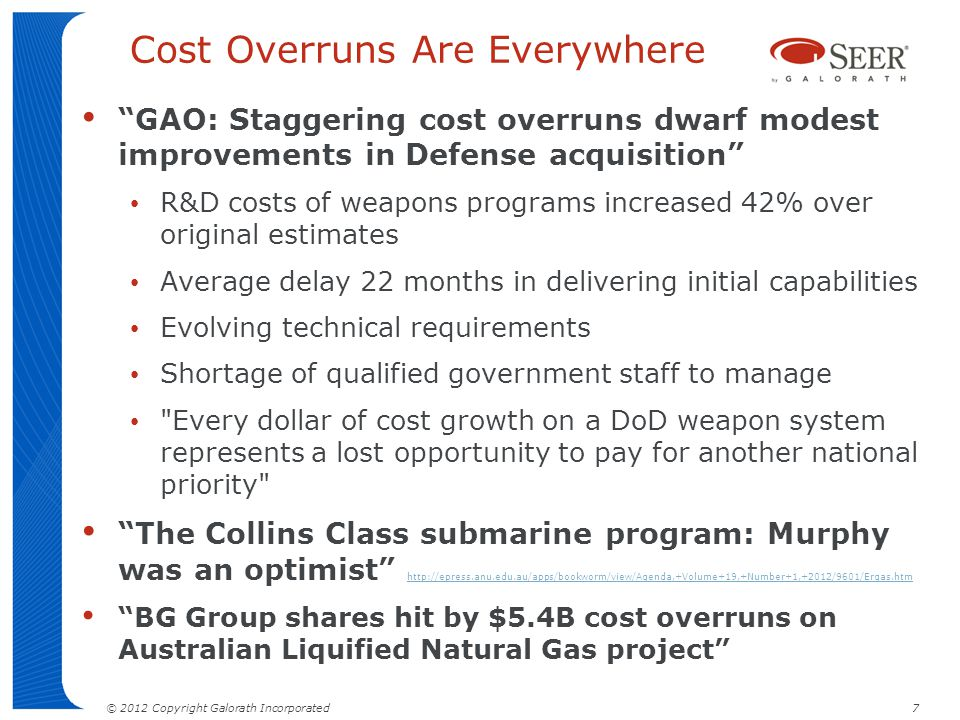 Cost Overruns Are Everywhere