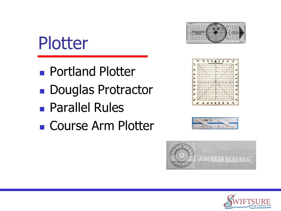Plotter Portland Plotter Douglas Protractor Parallel Rules