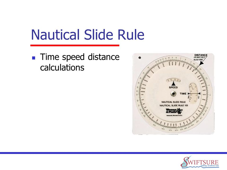 Nautical Slide Rule Time speed distance calculations