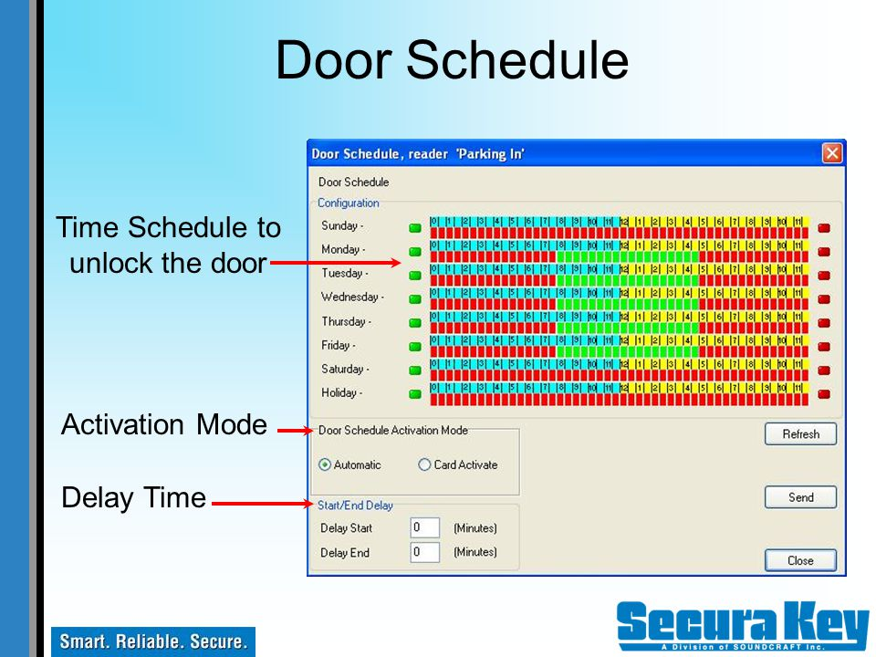 Time Schedule to unlock the door