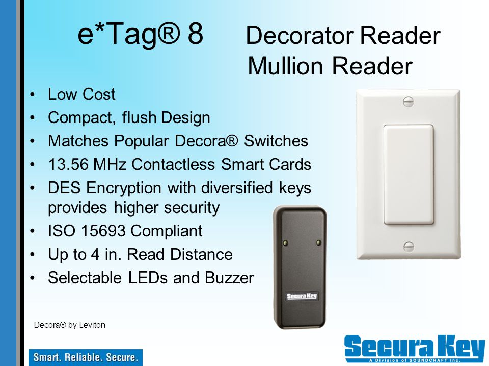 e*Tag® 8 Decorator Reader Mullion Reader
