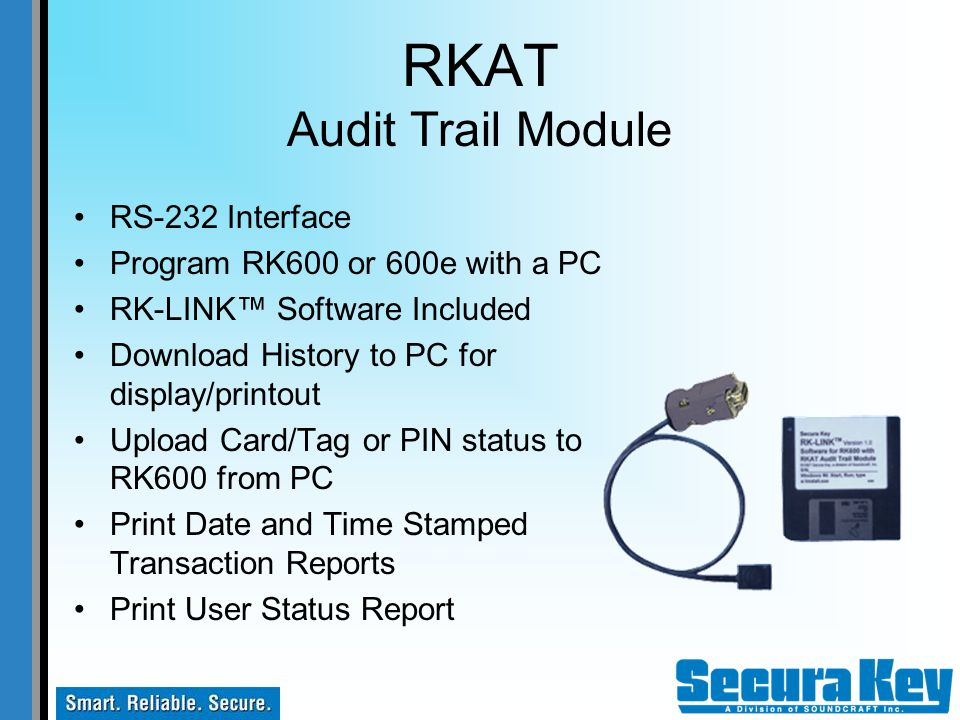 RKAT Audit Trail Module