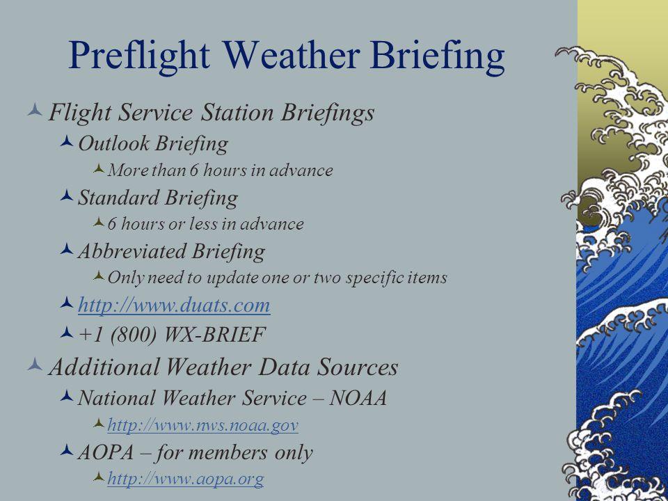 Preflight Weather Briefing