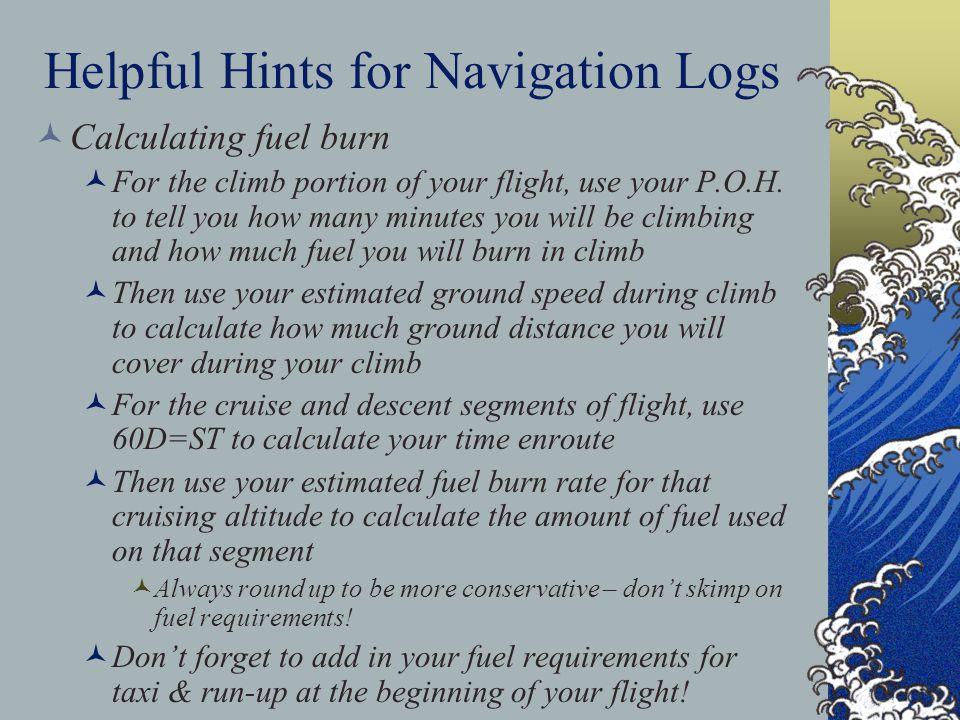 Helpful Hints for Navigation Logs